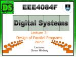 Lecture 7: Design of Parallel Programs Part II