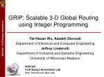 GRIP: Scalable 3-D Global Routing using Integer Programming