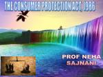 THE CONSUMER PROTECTION ACT, 1986