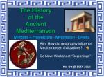 The History of the Ancient Mediterranean