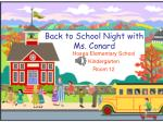 Back to School Night with Ms. Conard