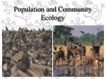 Population and Community Ecology