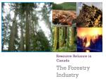 Resource Reliance in Canada