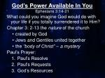 God's Power Available In You Ephesians 3:14-21