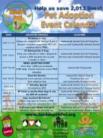 Pet Adoption Event Calendar