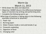 Warm-Up March 11, 2013