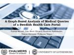 A Graph-Based Analysis of Medical  Queries  of  a Swedish Health Care Portal