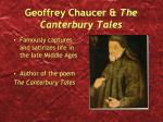 Geoffrey Chaucer & The Canterbury Tales