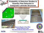 Probability  of Detection Studies  to Quantify  Flaw Detection  in Composite  Laminate Structures