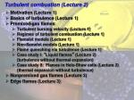 Turbulent combustion (Lecture 2)