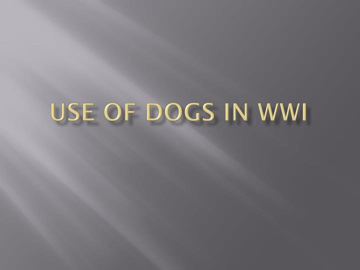 use of dogs in wwi n.