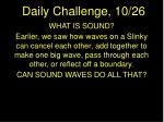 Daily Challenge, 10/26