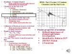 RFSS:   Part 2 Lecture  11 Uranium Chemistry and the Fuel Cycle