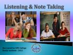 Listening & Note Taking