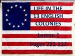 Life in the 13 English Colonies