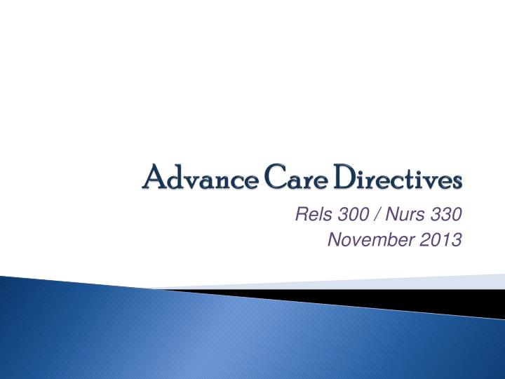 advance care directives n.