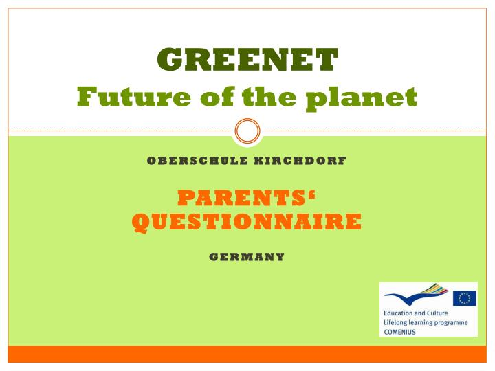 greenet future of the planet n.
