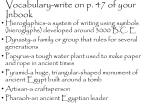 Vocabulary-write on p. 47 of your Inbook