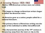 A Growing Nation 1820-1865
