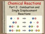Chemical Reactions  Part 2:   Combustion  and  Single Displacement  Reactions