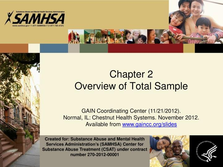 chapter 2 overview of total sample n.