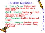 Childlike Qualities