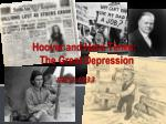 Hoover and Hard Times: The Great Depression