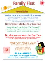 Make Our House Feel Like Home Use Positive Statements <> Build Family Up, Not Down