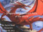 Dragons From Different Parts  of the World