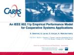 An IEEE 802.11p Empirical Performance Model for Cooperative Systems Applications