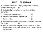 PART 1: GRAMMAR