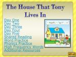 The House That Tony Lives In