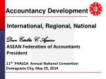 Accountancy Development International, Regional , National Dean Estelita C. Aguirre