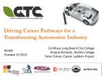 Driving Career Pathways for a Transforming Automotive Industry