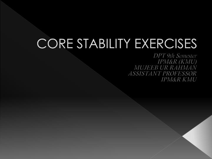 core stability exercises n.