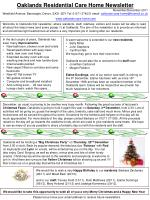 Oaklands Residential Care Home Newsletter November/December 2011