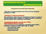 NUTRACEUTICALS / nutraceutics