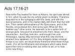 Acts 17:16-21