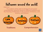 Halloween around the world!