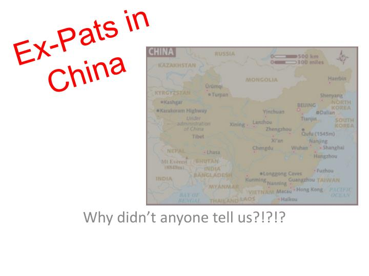 ex pats in china n.
