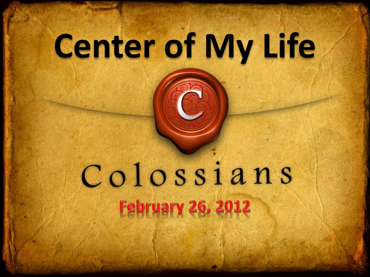 center of my life n.