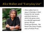 "Alice Walker and ""Everyday Use"""