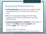 Individual Performance