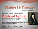 Chapter 11: Theodicy