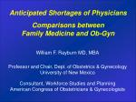 Comparisons between Family Medicine and Ob-Gyn