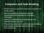 Computers and Code Breaking