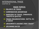 INTERNATIONAL TRADE CHAPTER 18