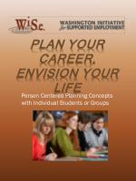 Plan Your Career, Envision Your Life