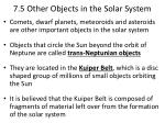 7.5 Other Objects in the Solar System