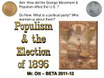 Populism & the Election of 1896